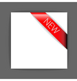 New red corner ribbon vector