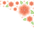 Flower pink back vector