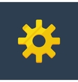 Cogwheel gear mechanism settings icon set vector