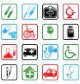 Icon set medicine vector