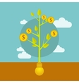 Money growing on tree business vector