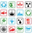 Icon set environment vector