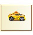 Icons taxi yellow vector