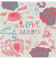 Love garden background vector