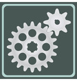 The pair of gears vector
