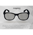 Strict eyeglasses in black and white vector