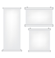 Roll up and projector screen vector