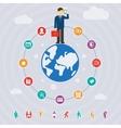 Business around the world vector