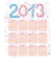 Cute 2013 calendar vector