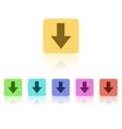 Modern flat icon set vector