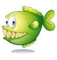 A big green fish vector
