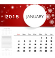 2015 calendar monthly calendar template for vector