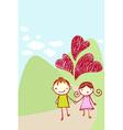 Cute couple card vector