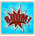 Retro background with boom comic speech bubble vector