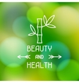 Spa beauty and health label on blurred background vector