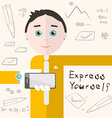 Express yourself with man - student or busin vector