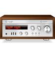 Vintage stereo analog vector