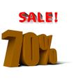 Sale percent vector