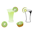 Cocktail glasses and kiwi vector