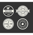 Back to school design elements retro style and vector