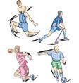 Team sports basketball field hockey handball and vector