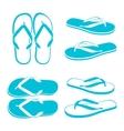 Beach sandals vector