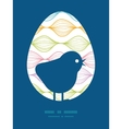 Colorful horizontal ogee chicken silhouette vector
