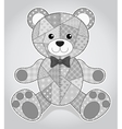 Old bear toy vector