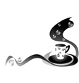 Coffee black and white vector