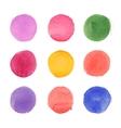 Set of watercolor circles vector