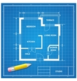 Furniture architect blueprint background vector