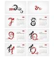 Calendar 2012 july dragons vector