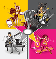 Music star idols vector