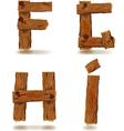 Wooden f g h i vector
