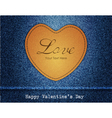 Happy valentine day jeans background vector