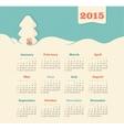 Calendar 2015 year with christmas tree vector