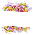 Multi colored flowers frame vector