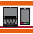 Notebook moblilny phone vector