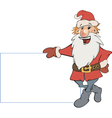 Santa claus with an empty blank cartoon vector