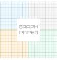 Graph millimeter paper seamless pattern set vector