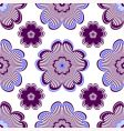 Seamless floral vivid violet pattern vector