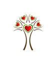 Italian heart tree vector