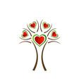 Italian heart tree vector