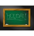 School blackboard - holiday vector