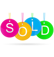 Sold icon with color vector