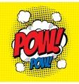Pow comic vector