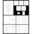 Wedding invitations gold vector
