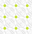 White ornament and green flowers vector
