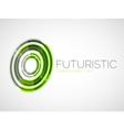 Futuristic circle business logo design vector