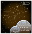 Calendar of the zodiac sign virgo vector